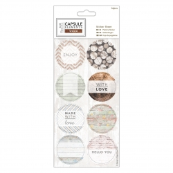 Sticker Sheet (16pcs) - Elements Wood (PMA 157273)