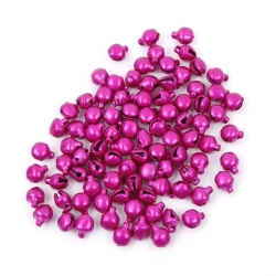 6mm Jingle Bells – Pink (100)