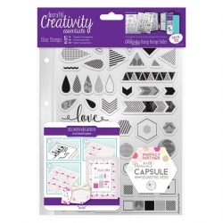 A5 Clear Stamp Set (45pcs) - Capsule, Geometric Neon (DCE 907102)