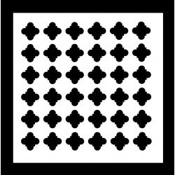 13 x 13cm Reusable Stencil - Moroccan pattern (1pc)