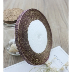Metallic Ribbon - 7mm Purple/Gold (22.86 metres)