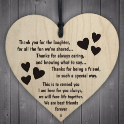 Wooden sign - Thanks for being a friend (1pc)