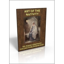 Download - 50 Image Graphics Collection - Art of the Nativity
