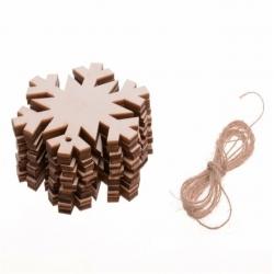 Wooden Snowflakes Large (10pcs)