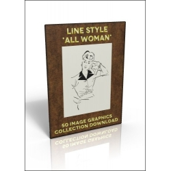 Download - 50 Image Graphics Collection - Line Style 'All Woman'
