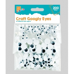 Self-adhesive Googly Eyes, 200pcs (STA0277)