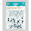 Googly Eyes, 200pcs (STA0277)