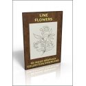 Download - 50 Image Graphics Collection - Line Flowers