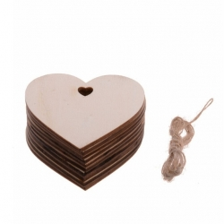 Wooden Hearts Large (10pcs)