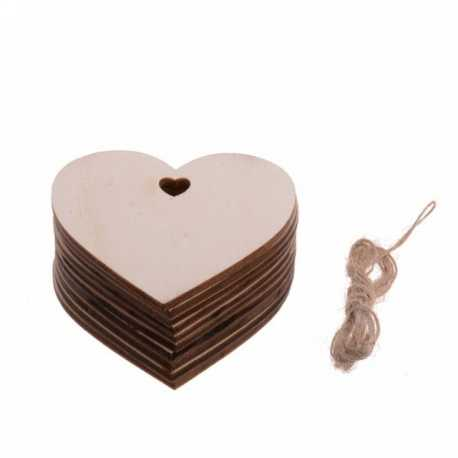Wooden Hearts Large (10pcs)