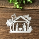 Printable Heaven die - Nativity with Angel & Star (3pcs)