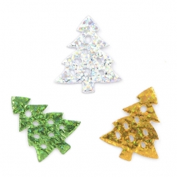Small Padded Christmas Trees Assorted (60pcs)