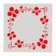 Reusable Stencil - Floral Frame (1pc)