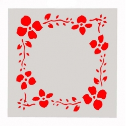 Reusable Stencil - Floral Frame (1pc)
