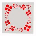 13 x 13cm Reusable Stencil - Floral Frame (1pc)