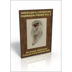 Download - 50 Image Graphics Collection - American Illustrators: Harrison Fisher Vol.2
