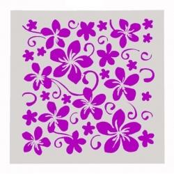 13 x 13cm Reusable Stencil - Flowers (1pc)