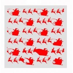 Reusable Stencil - Santa & Sleigh (1pc)