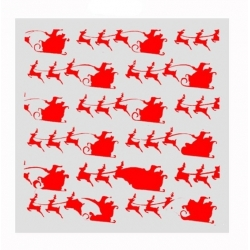 Reusable Stencil - Santa & Sleigh (1pc)
