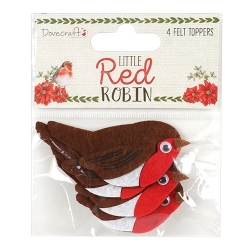 Dovecraft Little Red Robin - Felt Robin Toppers (DCTOP108X18)