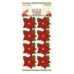 Dovecraft Little Red Robin - Poinsettia Flowers (DCTOP101X18)
