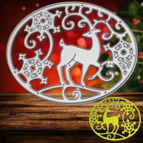 Printable Heaven die - Reindeer & Snowflake Motif (1pc)