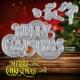 Printable Heaven dies - Merry Christmas with Reindeer & Bauble