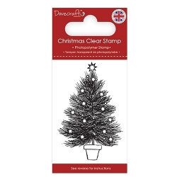 Dovecraft Clear Stamp - Christmas Tree (DCSTP168X18)