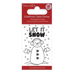 Dovecraft Clear Stamp - Let it Snow (DCSTP169X18)