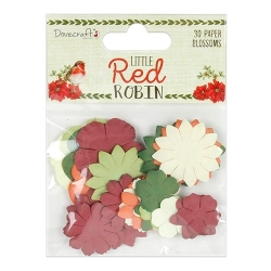 Dovecraft Little Red Robin - Paper Blossoms (DCFLW022X18)