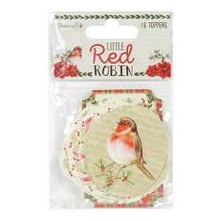 Dovecraft Little Red Robin - Toppers (DCTOP106X18)