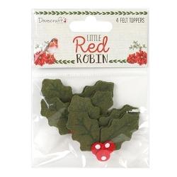 Dovecraft Little Red Robin - Felt Holly (DCTOP107X18)