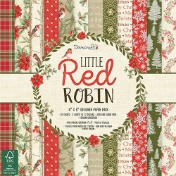Dovecraft Little Red Robin - 8 x 8 Paper pad (DCPAP101X18)