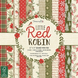 Dovecraft Little Red Robin - 12 x 12 Paper pad (DCPAP100X18)