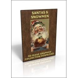 Download - 50 Image Graphics Collection - Santas & Snowmen