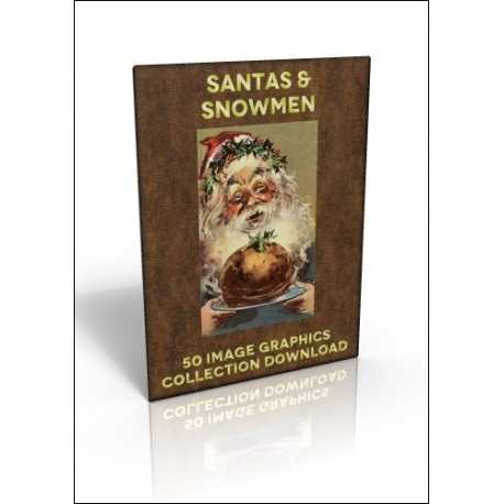Download - 50 Image Graphics Collection - Santas & Snowmen