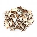 Wooden Mini Christmas Trees, Snowflakes & Stars (50pcs)