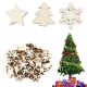 Wooden Christmas Trees, Snowflakes & Stars (50pcs)