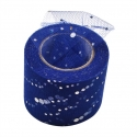 Tulle Ribbon Roll with Sequins - Navy (5cm x 22m)