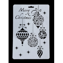 Large Plastic Stencil - Baubles (1pc)