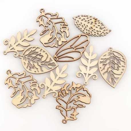 Wooden Leaves (10pcs)
