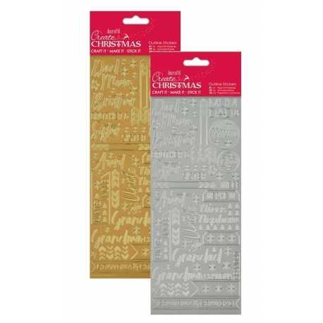 Anita's Peel-offs - Contemporary Xmas Relations Gold/Silver (PMA 810910/911)