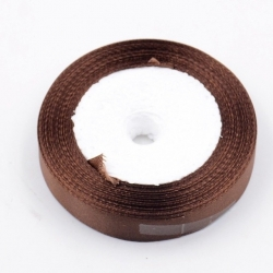 6mm Satin Ribbon - Brown (25 yards)