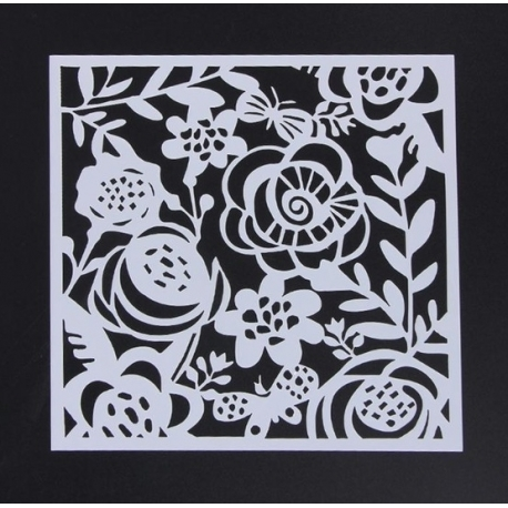 Reusable Stencil - Flowers & Butterflies (1pc)