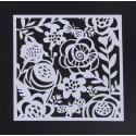 13 x 13cm Reusable Stencil - Flowers & Butterflies (1pc)