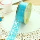 Self-adhesive Lace roll - Blue (14mm x 1m)