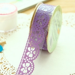 Self-adhesive Lace tape - Purple (14mm x 1m)
