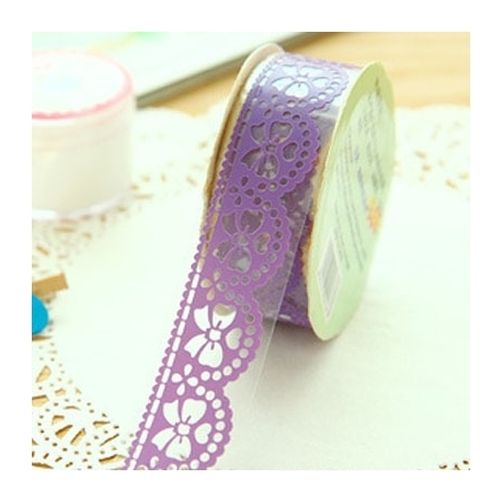 Self-adhesive Lace roll - Purple (14mm x 1m)