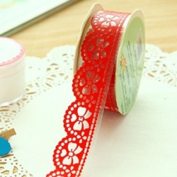 Self-adhesive Lace tape - Red (14mm x 1m)
