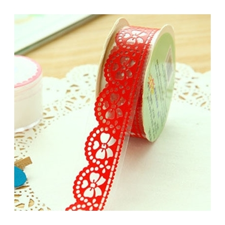 Self-adhesive Lace roll - Red (14mm x 1m)